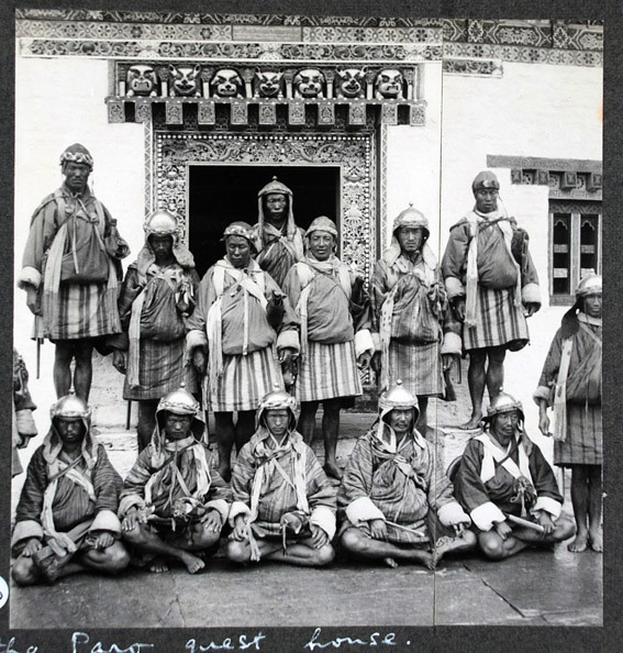 The Penlop's soldiers at the Paro guest house 25.6.33