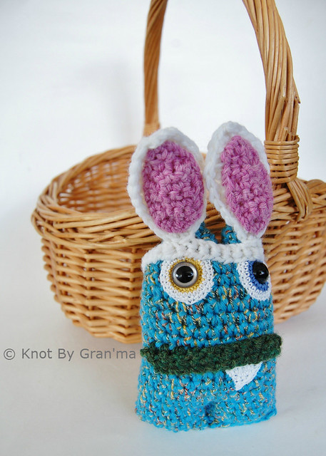 Blue Bunny Monster Doll by Knot By Gran'ma
