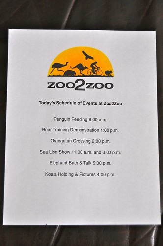 Zoo Schedule Day