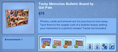Tacky Memories Bulletin Board by Gal Pals