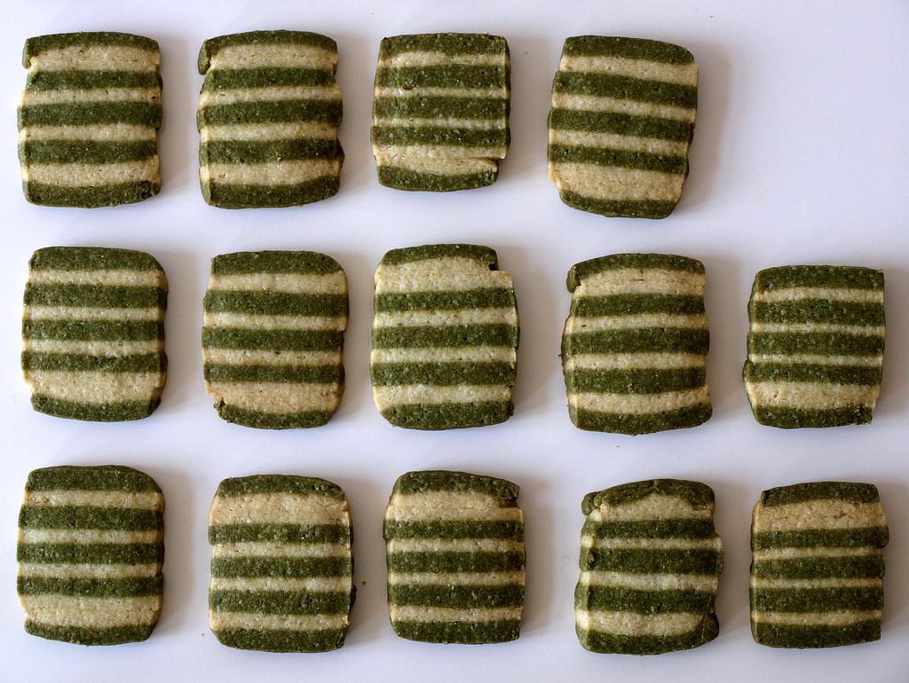 Matcha-Limonen-Sablés