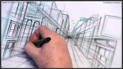 learn how to draw city buildings in perspective 021