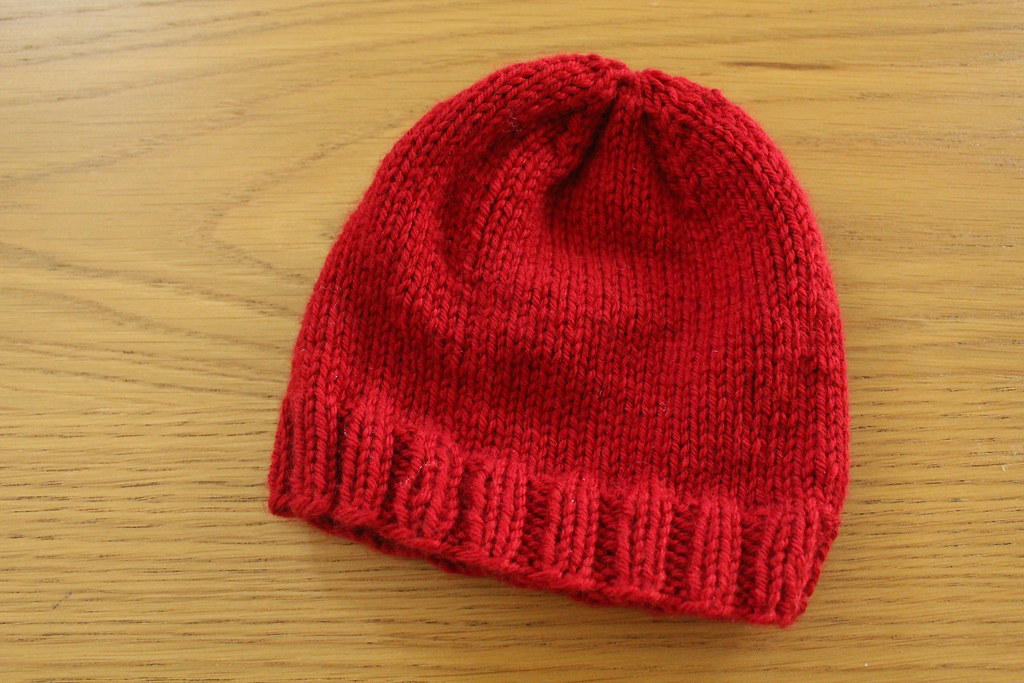 Red Basic Baby Hat