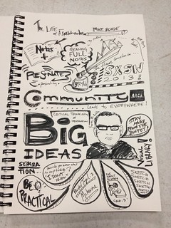 Sketchnotes by @JKmiloMarin from my AIGA talk in San Antonio.