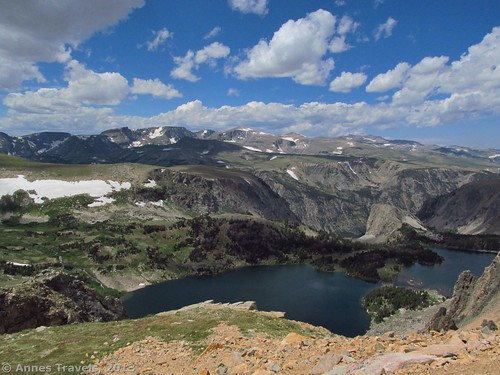 The Twin Lakes from the pullout along the Beartooth Highway, Shoshone National Forest, Wyoming