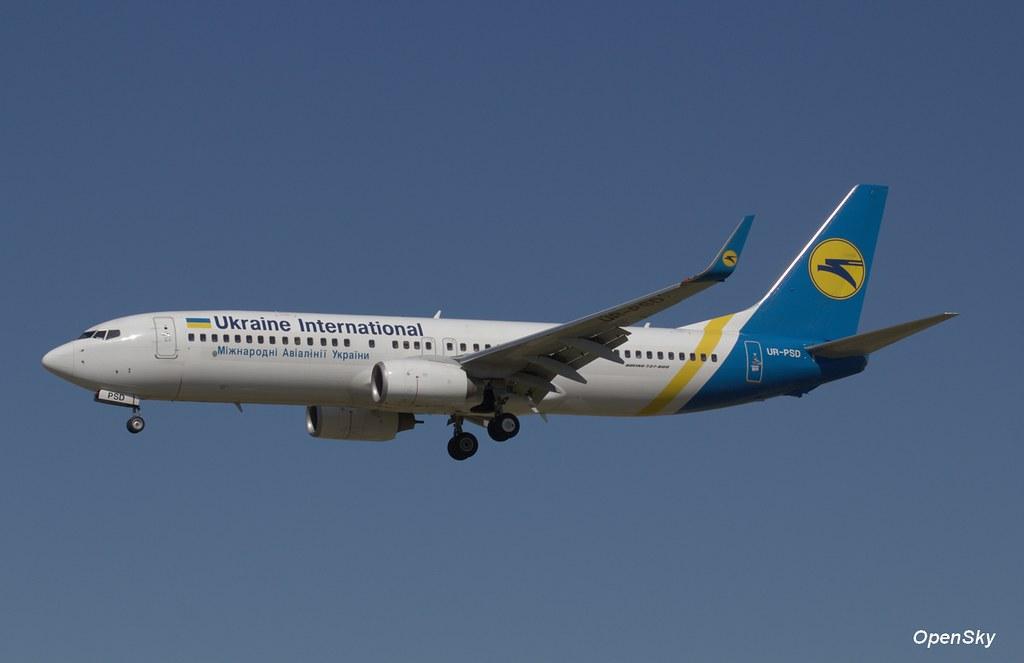 Ukraine International Airlines Boeing 737-8HX(WL) UR-PSD (cn 29686)