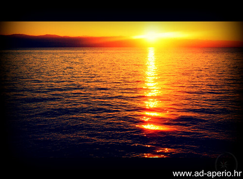 sea sunrise croatia adriatic lovran