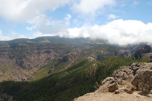 Der wolkenverhangene Pico de Nieves ist der höchste Berg Gran Canarias