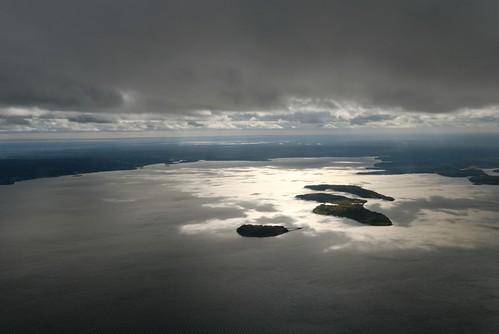 sky lake canada nova clouds dark view north lac aerial east scotia nuages airborne far vue nouvelle 2012 aérienne écosse