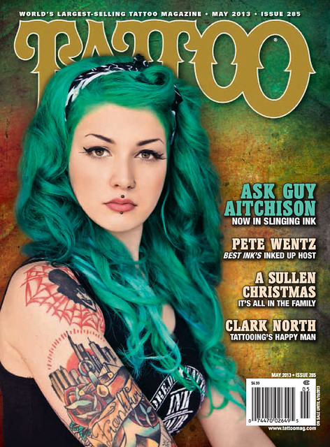 TATTOO Mag #285: Victoria van Violence on the cover! May 2013 (USA)