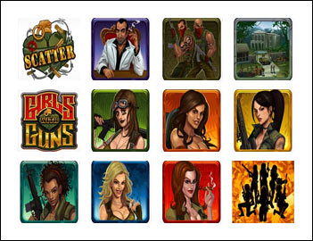 free Girls with Guns - Jungle Heat slot game symbols