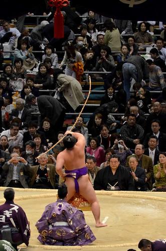 Sumo Bow-Closing Ceremony