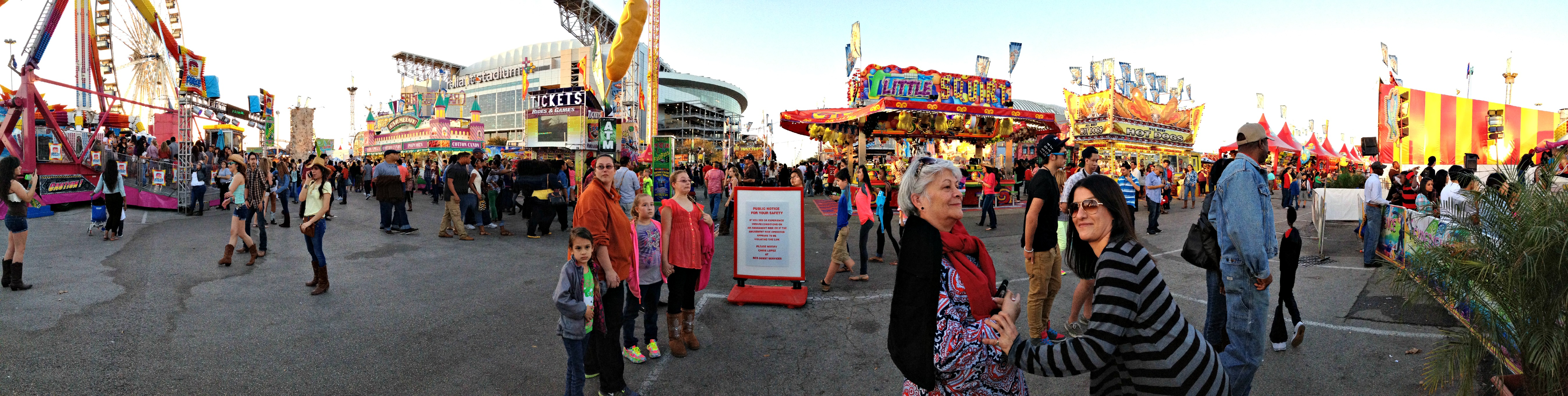 Panoramic of the carnival