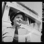 A Woman Operator on 14th Street Line: 1943