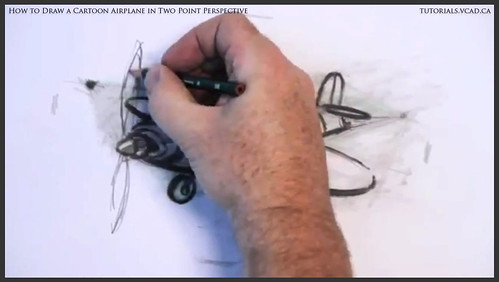 learn how to draw a cartoon airplane in two point perspective 040