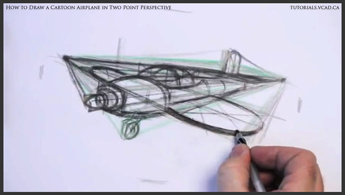 learn how to draw a cartoon airplane in two point perspective 026
