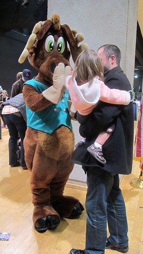 Spruce Moose high-five by Coyoty