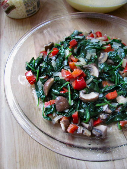 Sauteed Vegetables for Quiche