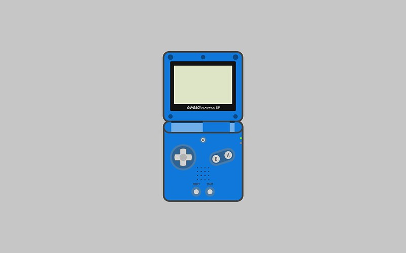 Nintendo Game Boy Advance SP wallpaper - blue