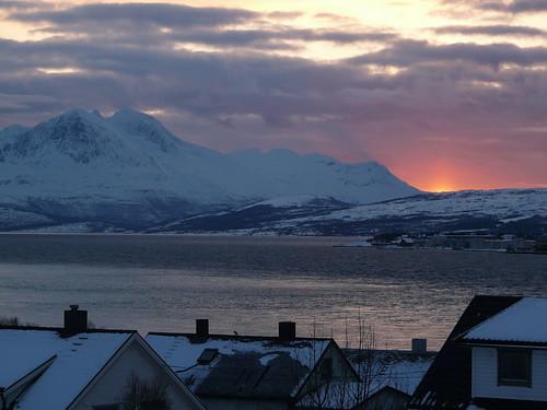 Coucher de soleil sur Tromsø