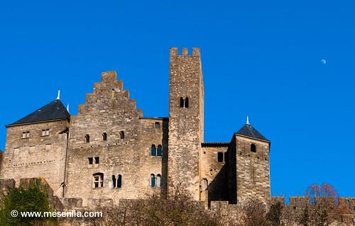 Castillo de los Condes de Carcasona visto desde la parte posterior