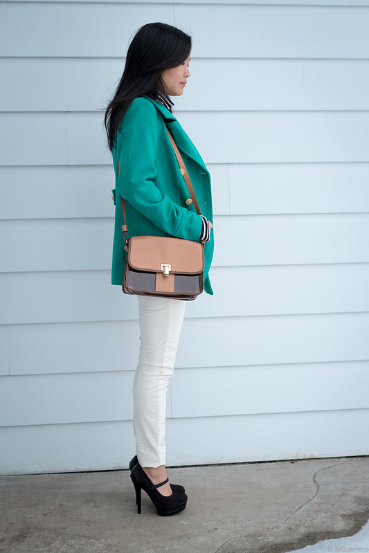 green peacoat white cords