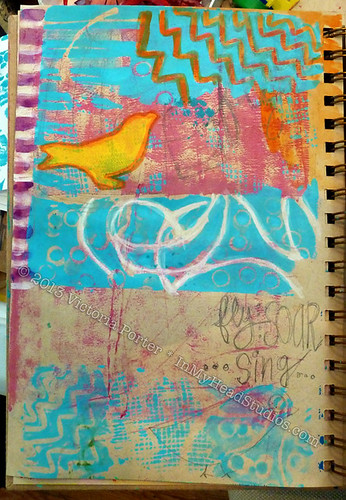 """Soar & Fly"" ArtJournal Page : Before"
