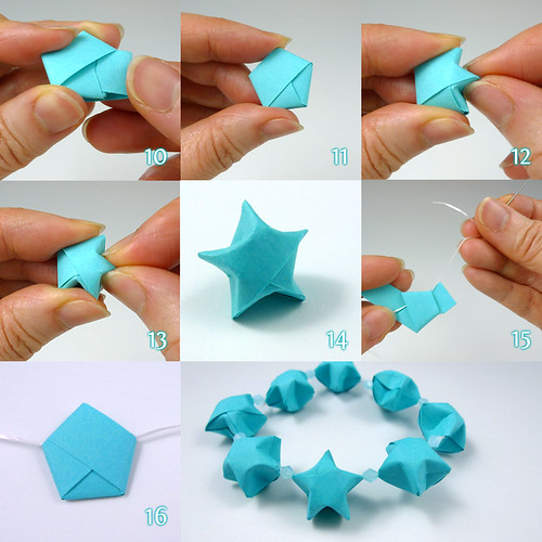 All things paper folded lucky stars tutorial more for Handmade things step by step