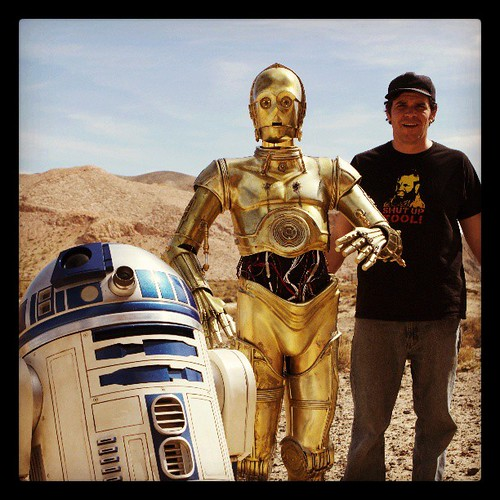 Threepio, Artoo and Sam in The California Desert