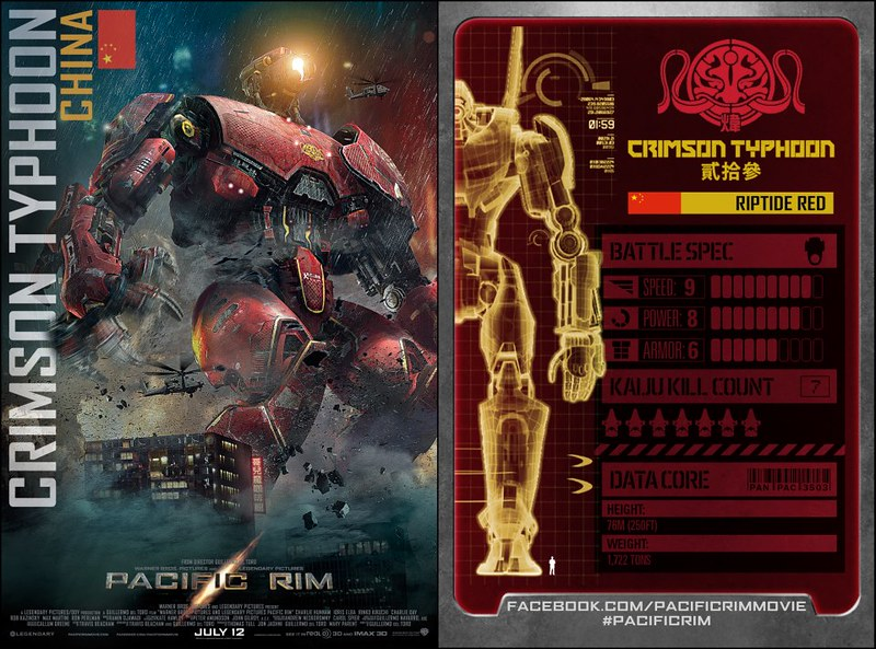 Pacific RimJaeger Trading Cards Crimson Typhoon