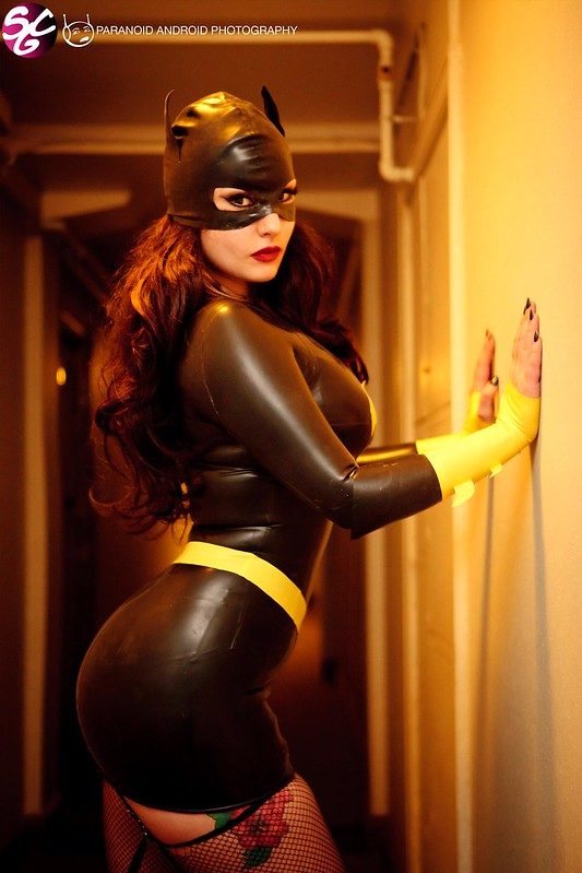 Ivy Pearl as Batgirl Latex