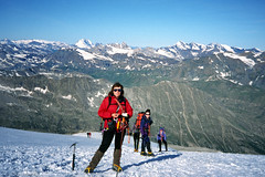 ski equipment(0.0), winter sport(0.0), ski(0.0), skiing(0.0), cross-country skiing(0.0), downhill(0.0), snowshoe(1.0), adventure(1.0), footwear(1.0), mountain(1.0), winter(1.0), piste(1.0), sports(1.0), recreation(1.0), snow(1.0), outdoor recreation(1.0), mountaineering(1.0), mountain range(1.0), ski touring(1.0), summit(1.0), ridge(1.0), extreme sport(1.0), mountain guide(1.0), ski mountaineering(1.0), nordic skiing(1.0), mountainous landforms(1.0),