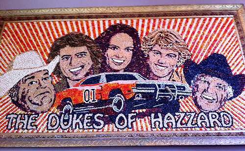 Dukes of Hazzard Pasta/Bean Art