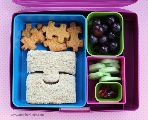Laptop Lunches puzzle pieces for Autism - school lunch bento