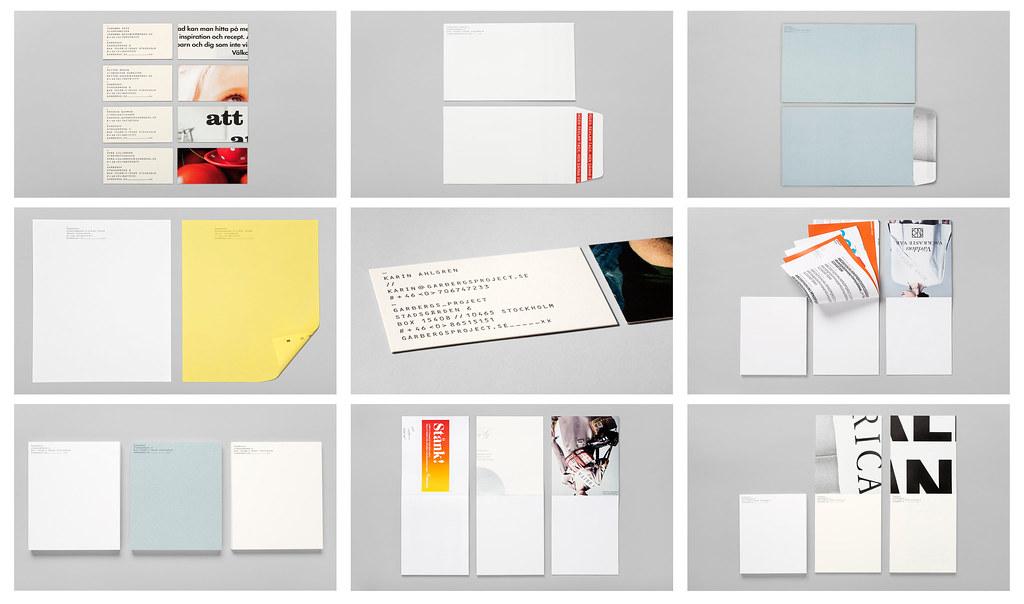 Visitkort, kuvert, brevpapper, block och annat ingår i designprogrammet.