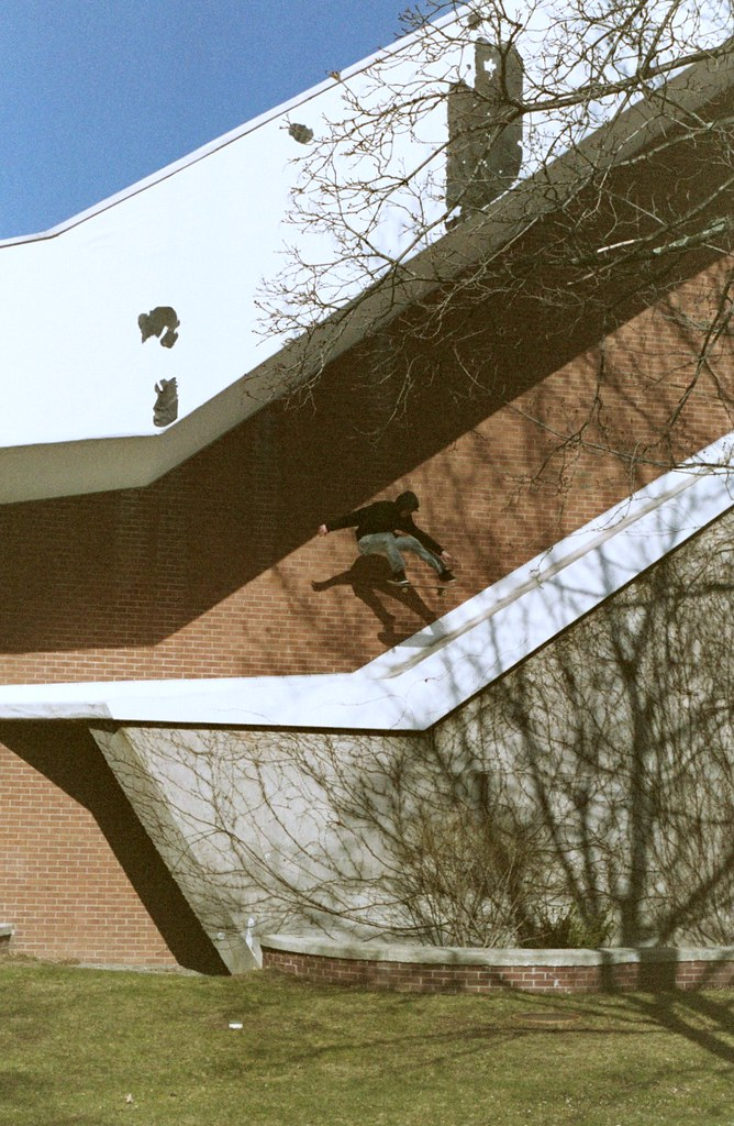 Dane Varalli - Kickflip Fakie Roof Bank - Greece, NY