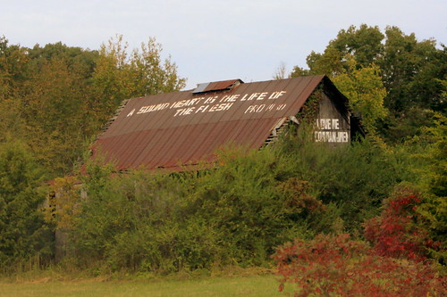 Bible Verse Barn in East Tennessee