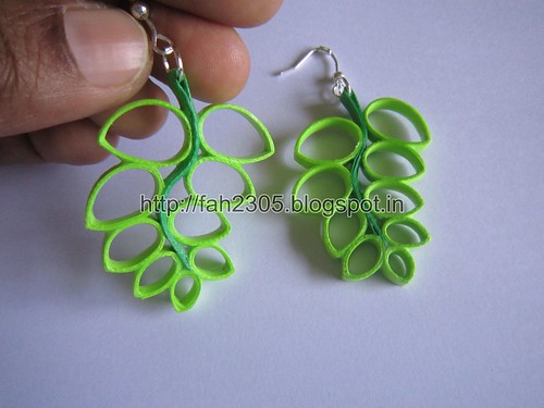 Handmade Jewelry - Paper Quilling Fern Earrings (Free Form Quilling) (2) by fah2305