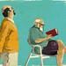 Dos hombres y un libro by EVA VAZQUEZ DIBUJOS