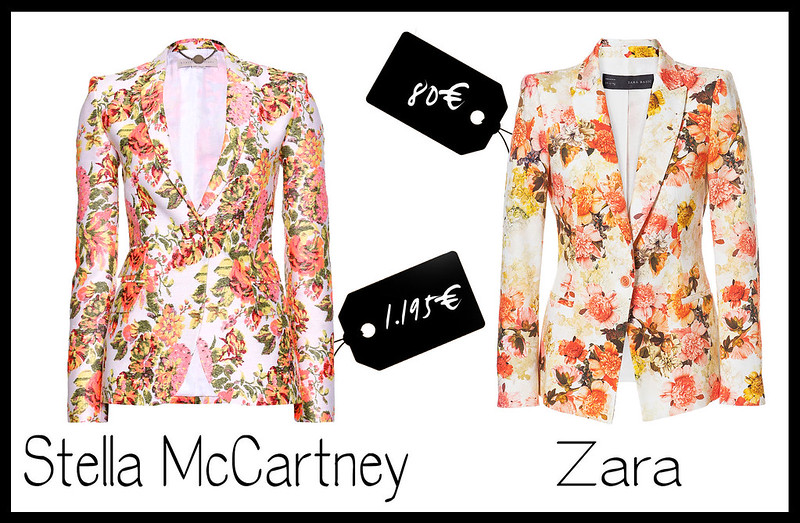 cheap and cool stella mccartney floral jacket-zara