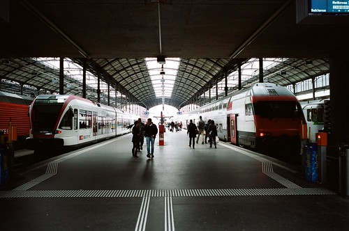 Railway station in Lucerne