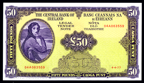 Ireland 50 Pound note