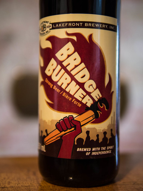 Craft beer, bridge burner review, bridge burner strong beer, lakefront brewery beer