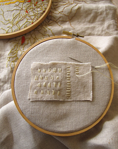 Linen Scraps Daily Embroidery_Start
