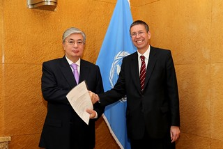 NEW PERMANENT REPRESENTATIVE OF AUSTRIA PRESENTS CREDENTIALS TO DIRECTOR-GENERAL OF UNITED NATIONS OFFICE AT GENEVA