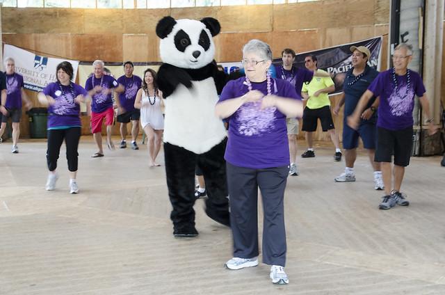 Zumba with panda