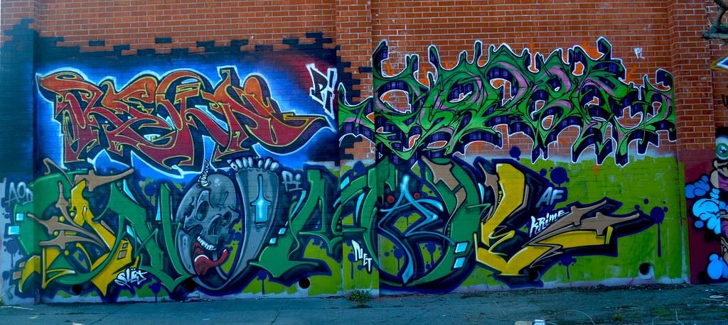 REKN, YODER, ANEMAL, AOD, PI, EMT, Street Art, Graffiti, Oakland