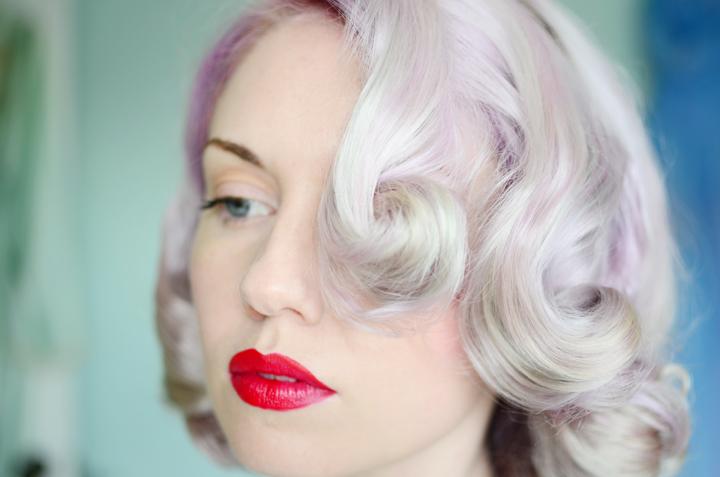 lilac curls pin curl set c