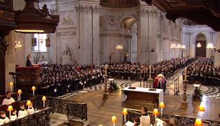【高清组图】英国举行撒切尔夫人葬礼