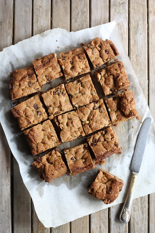 Whole Wheat Chocolate Chip Cookie Bars